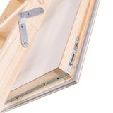 Zoldertrap Roto Designo hout luik warmte isolerend