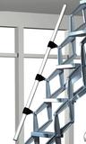 Zoldertrap Roto Junior Aluminium schaartrap met veersysteem telescopische armleuning