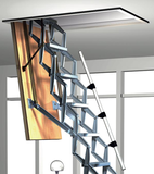 Zoldertrap Roto Exclusief Aluminium schaartrap electrisch telescopische armleuning