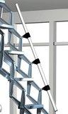 Zoldertrap Roto Junior Highboard Aluminium schaartrap telescopische armleuning