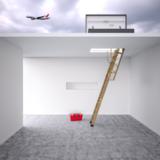Platdakuitgang  naar uw plat dak , trap met treden in hout en dubbele luik