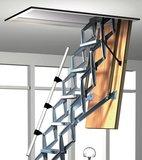 Zoldertrap Roto Platdak uitgang Aluminium schaartrap telescopische armleuning