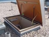 Zoldertrap Roto Platdak uitgang Aluminium Dubbel luik Perfect isolerend