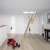 Zoldertrap Roto Quadro 2 hout uitschuifbaar warmte isolerend