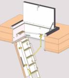Zoldertrap Roto Designo hout Dubbel luik isolerend met passief attest