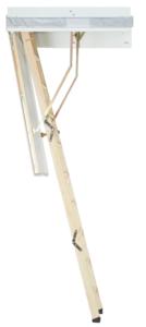 vlizotrap Zoldertrap Roto Designo hout Vouwbaar in 3 delen warmte isolerend