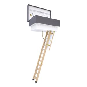 Platdak uitgang  naar uw plat dak , trap met treden in hout